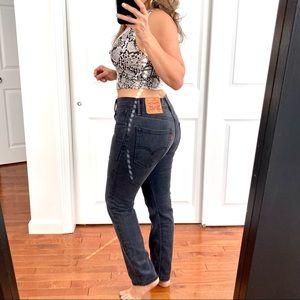 LEVI'S 502 Taper Jeans Gray Black 30 x 30